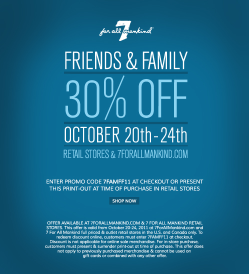 Friends and Family will shop with you if they are your friends and family. There is no need to give them a huge discount. You are not their