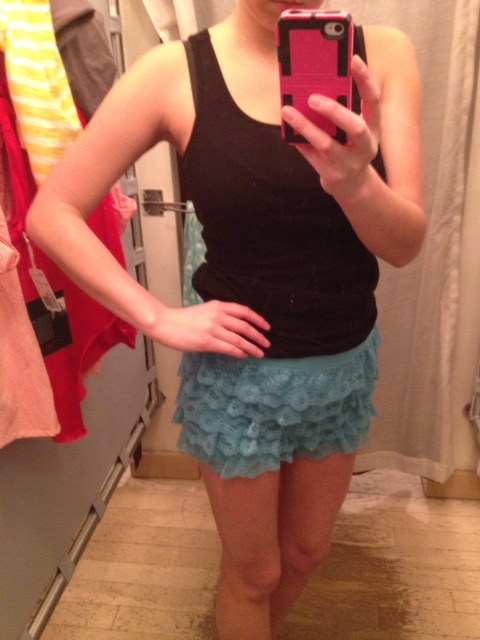 Forever 21 tiered lace shorts 2