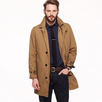 J.Crew has carried the Wedgewood Trench for a while, and it's a good moderately priced trench. It's a single breasted option, which is great for guys that