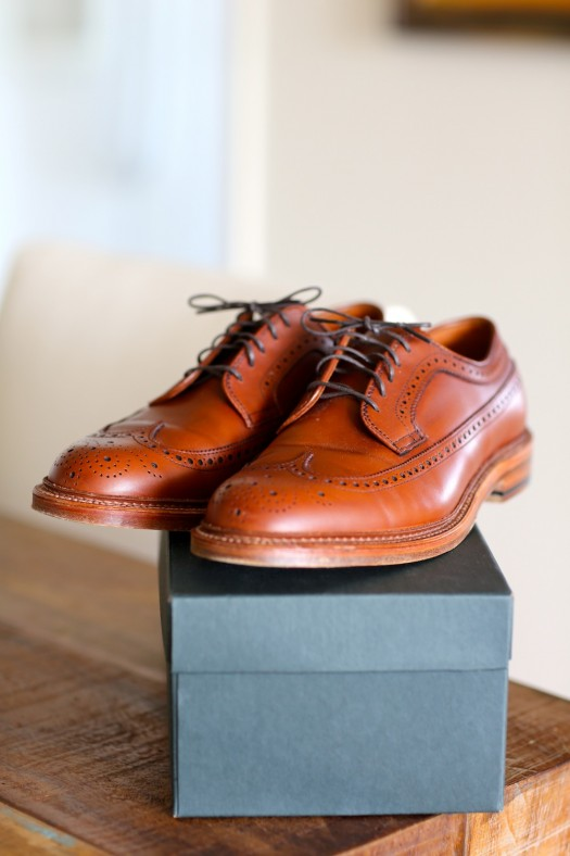alden leather shoes