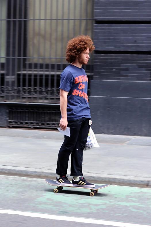 Skater style.